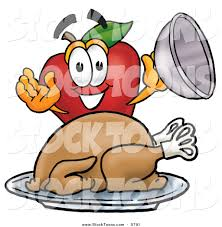 stock cartoon of a hungry and smiling red apple character mascot
