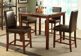 patio bar height dining table set room and chairs round stool