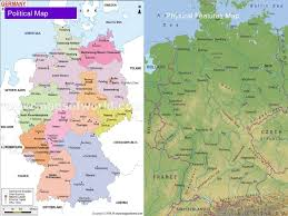 geographical map of germany germany powerpoint