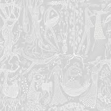 brewster 57 8 sq ft poem d amour light grey folk wallpaper