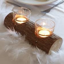 bougeoir mariage bougeoir rondin de bois