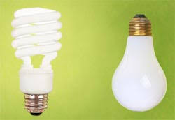 incandescent vs compact fluorescent light bulbs cfl save energy