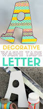 how to make a decorative washi tape letter the crafty blog stalker