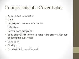 parts of cover letter intro to resume and cover letter writing
