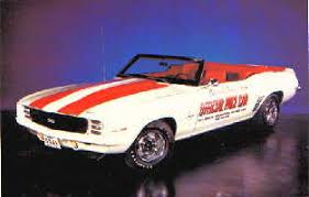 69 camaro pace car the 1969 pace car
