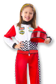 sports halloween costumes for girls amazon com melissa u0026 doug race car driver role play costume set