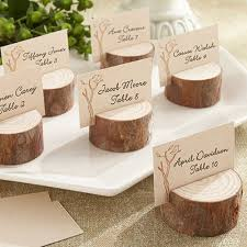 real wood place card photo holders