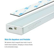 Stick On Led Lights Strips by Veepeak Rechargeable 56 Led Motion Sensor Light Under Cabinet