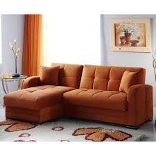 Microfiber Sleeper Sofa by Istikbal Kubo Rainbow Orange Microfiber Sectional Sofa Hayneedle