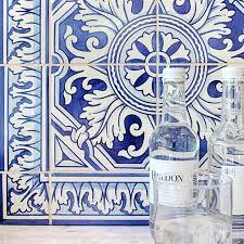 Portuguese Tiles Kitchen - white country floors
