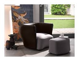 bison extra leather armchair with footrest shop online on ciatdesign