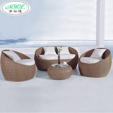 Round Outdoor Sofa Sofa Round Rattan Sofa European Style Courtyard Hotel Lounge