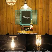 crlight led edison bulb 10w 2700k warm white 1000lm 100w