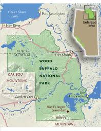 Fort Mcmurray Alberta Canada Map by Roaming Through Wood Buffalo National Park Canadian Geographic