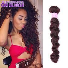 mink 7a brazilian virgin hair loose wave 99j red remy human hair