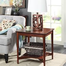 convenience concepts savannah console table end table in mahogany 7303049