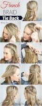 french braid tie back easy and pretty for any occasion
