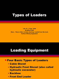 4 types of loaders loader equipment machines
