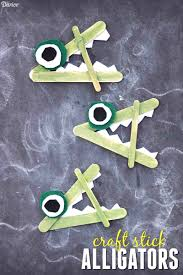 alligator craft for kids with felt and craft sticks darice