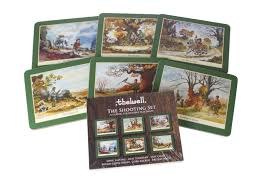 country matters shooting placemats set of 6 amazon co uk