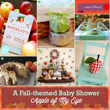 country themed baby shower apple of my eye fall themed baby shower