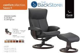 Lounge Chair Dimensions Ergonomics Fjords Senator Ergonomic Leather Recliner Chair Ottoman