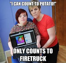 Harry Potter Firetruck Meme - i can count to potato only counts to firetruck scumbag potato