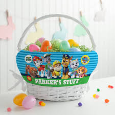 easter basket liners personalized personalized paw patrol top pup easter basket walmart