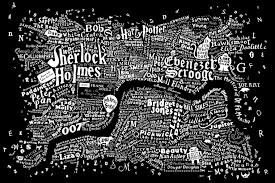 Map Od Typography A Literary Map Of London Nackblog