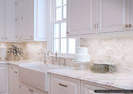 Calacatta Gold Subway Tile And Countertop Ideas - Pictures of subway tile backsplash