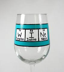 table of elements wine glass w i ne painted wine glass