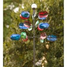 colorful waves metal wind spinner yard decor
