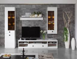 Led Tv Wall Table Living Room White Wall Storage Grey Stone Wall Wall Rack White