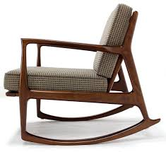 Comfortable Rocking Chairs Danish Modern Mid Century Rocking Chair By Selig At 1stdibs