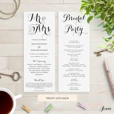 Printable Wedding Program 25 Best Wedding Programs Diy Printable Wedding Order Of Service