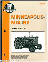 minneapolis moline shop service farm tractor manual