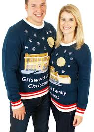 women u0027s christmas vacation lighted griswold house sweater in blue