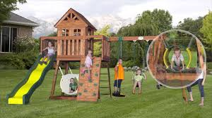 Sears Backyard Playsets Backyard Discovery Somerset Wood Swing Set Sears Photo On