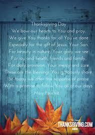 6 thanksgiving blessings prayers