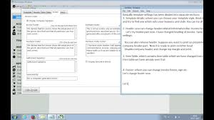 template settings in book keeper windows add bank details in