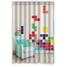 48 Inch Shower Curtain Bath Curtains 48 X 72 Inch Printed Popular Loving Tetris