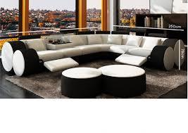 canapé d angle blanc et noir deco in canape d angle cuir blanc et noir relax