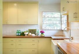 Yellow Kitchen Cabinet Collection In Yellow Kitchen Cabinet In Interior Decor Plan With