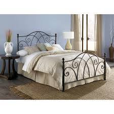 Metal Sleigh Bed Brown Wrought Iron Sleigh Beds Queen Antique Poster Bedroom