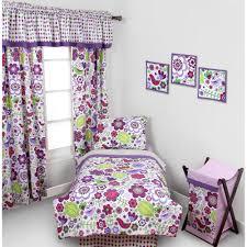 bacati botanical 4 piece toddler bedding set 100 cotton percale