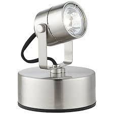 brushed steel 50 watt plug in mini accent uplight 8c570 lamps