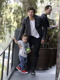 exclusive bonding day for orlando bloom and flynn