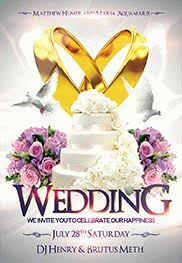 wedding flyer wedding 3 free flyer psd template cover by elegantflyer
