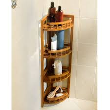 the bamboo shower organizer hammacher schlemmer