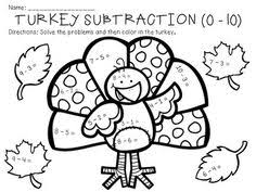 11 best images of turkey addition and subtraction worksheets
